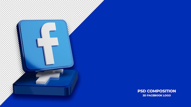 Facebook pictogram 3d render geïsoleerd