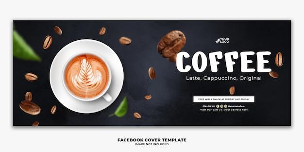 Facebook post-sjabloon speciaal voedselmenu koffie drinken