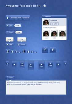 Facebook social media kit ui