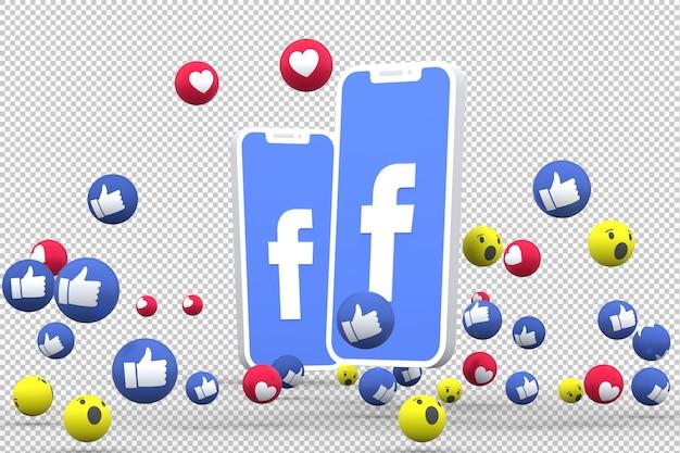 Facebook-symbool op scherm smartphone