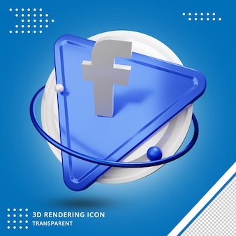 Facebook-toepassingspictogram 3d-rendering