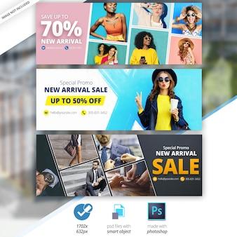 Facebook-verkoop tijdlijn cover banner