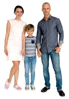 Famiglia madre padre figlio felicità concept