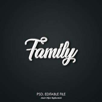 Familie tekst effect stijl