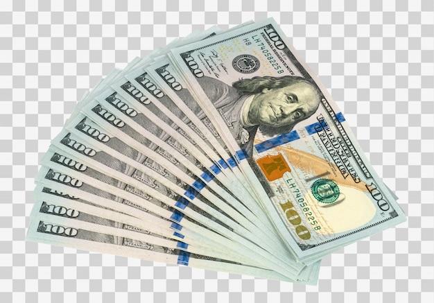Fan de dinero aislado