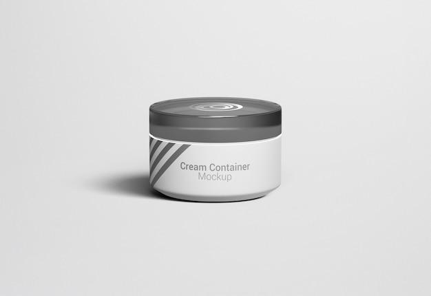 Fancy cosmetic jar cream container verpakking mockup