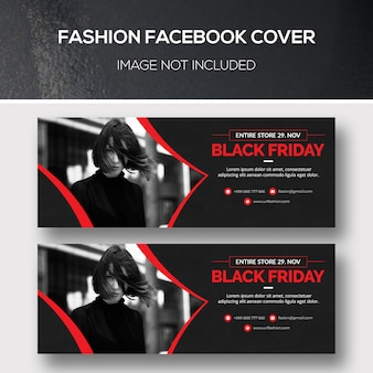 Fashion facebook-cover voor black friday