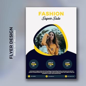 Fashion flyer-sjabloon