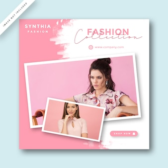 Fashion layout di promozione dei social media
