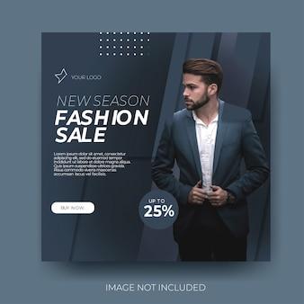 Fashion sale sociale media mannen stijlvol