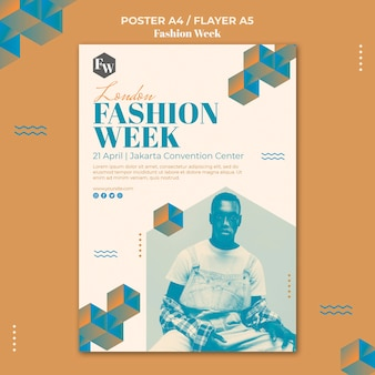 Fashion week poster sjabloon stijl