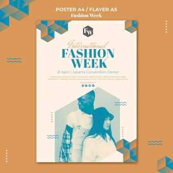 Fashion week poster sjabloon