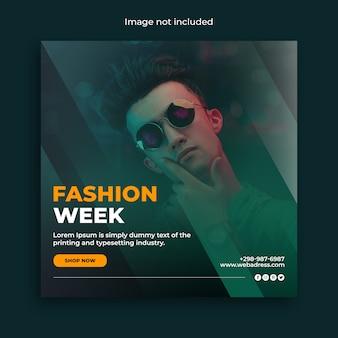 Fashion week social media post-sjabloon voor spandoek