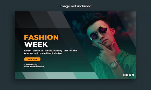 Fashion week web-sjabloon voor spandoek