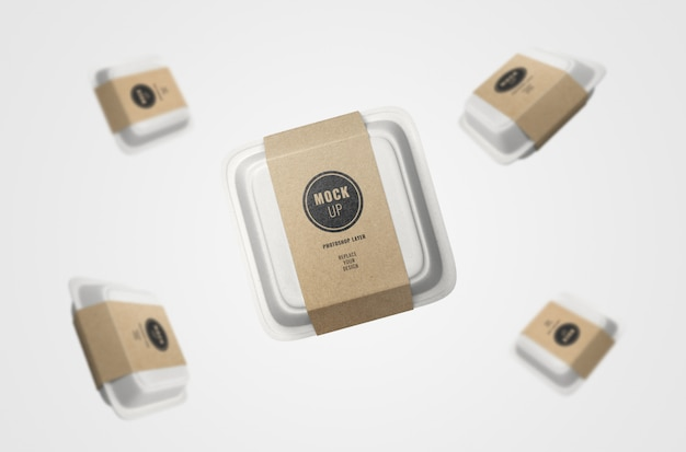 Fast food boxes reclame mockup