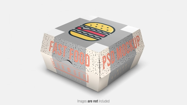 Fast food burger verpakking box mockup