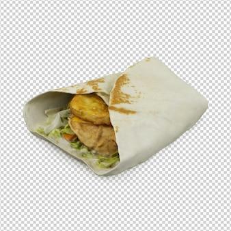 Fast food isometrico