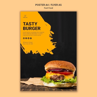 Fast food poster sjabloon