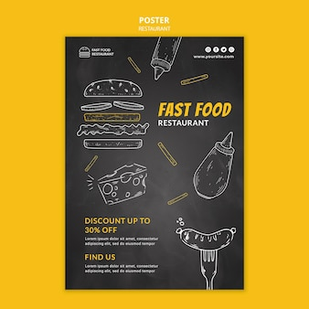 Fast-food restaurant poster