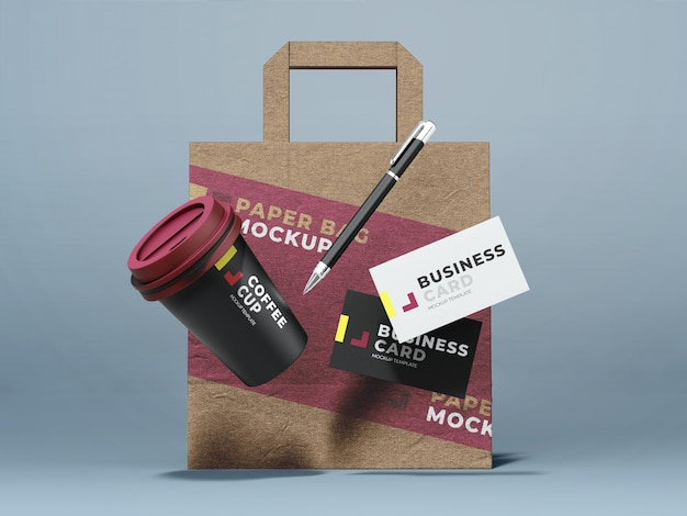 Fast food take away mockup