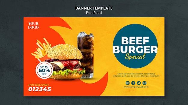 Fastfood advertentie sjabloon banner
