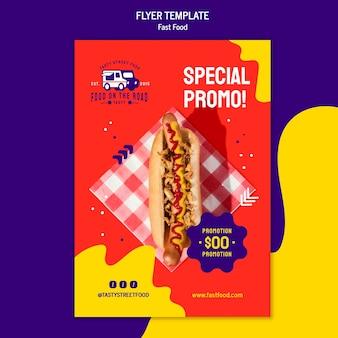 Fastfood folder sjabloon Gratis Psd