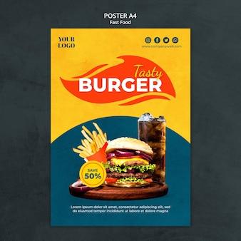 Fastfood poster sjabloon