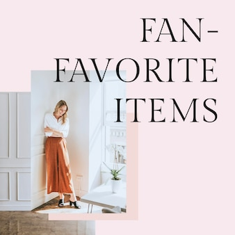 Favoriete items postsjabloon psd