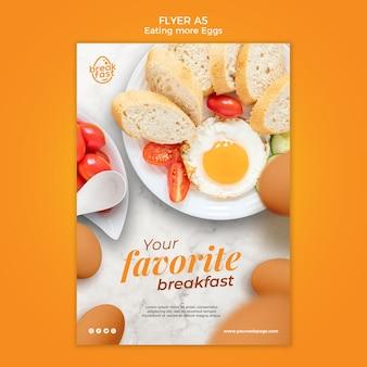 Favoriete ontbijt folder sjabloon