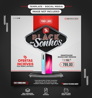 Feed black friday of dreams smartphone en oferta en brasil