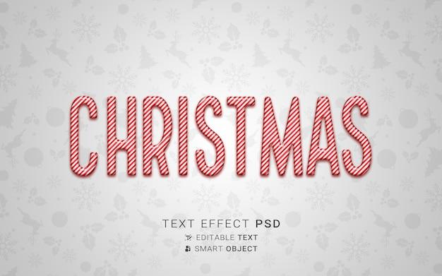 Feestelijk kerstteksteffect
