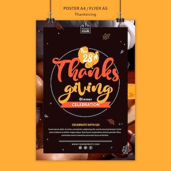 Feestelijke dankzegging afdruksjabloon