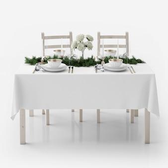 Feestelijke maaltijd op tafel