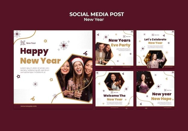 Feestelijke nieuwjaarsberichten op sociale media