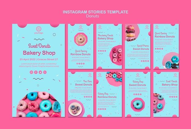 Feestelijke opening regenboog donuts instagramverhalen