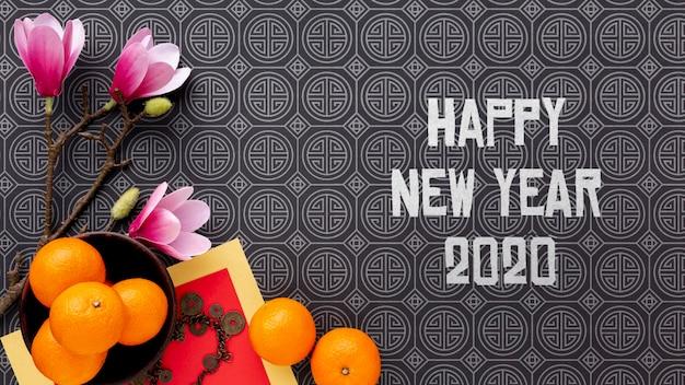 Feliz año nuevo chino maqueta