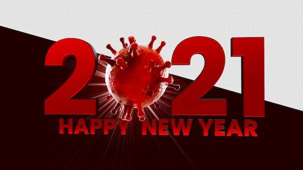 Feliz año nuevo diseño de maqueta de renderizado 3d