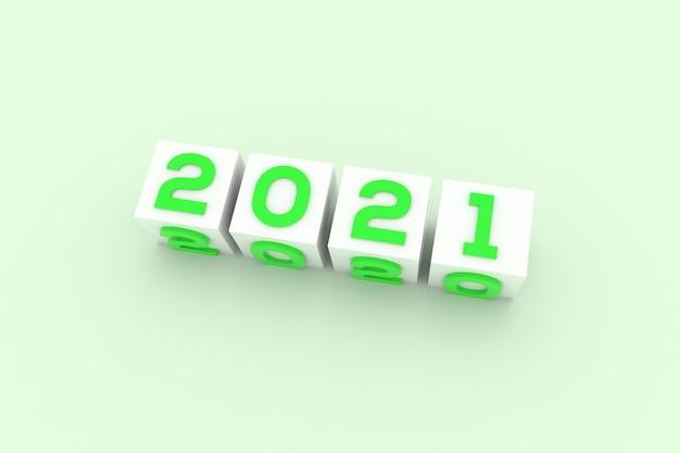 Feliz año nuevo estilo de texto verde
