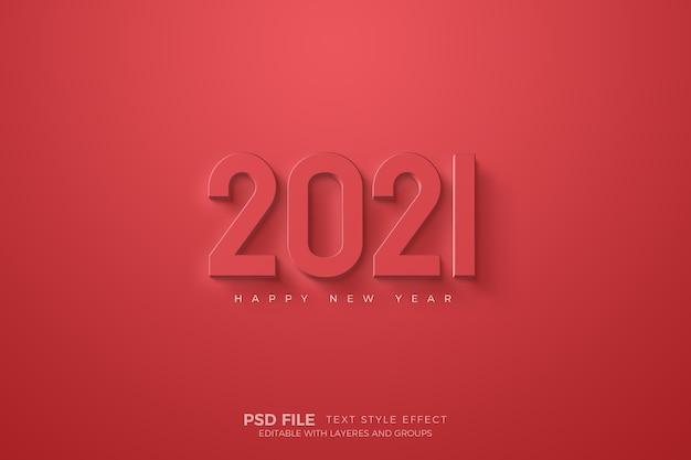 Feliz año nuevo con plantilla de números rojos