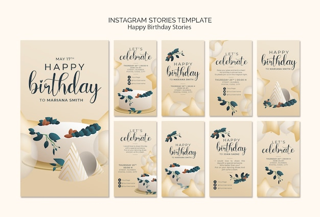 Feliz cumpleaños historias de instagram