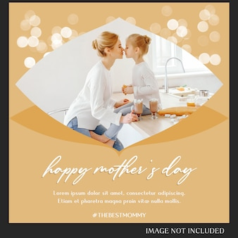 Feliz día de la madre saludo instagram plantilla de post