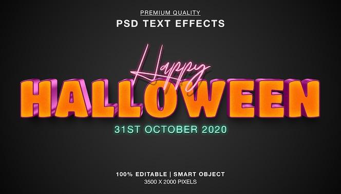 Feliz efecto de texto de halloween