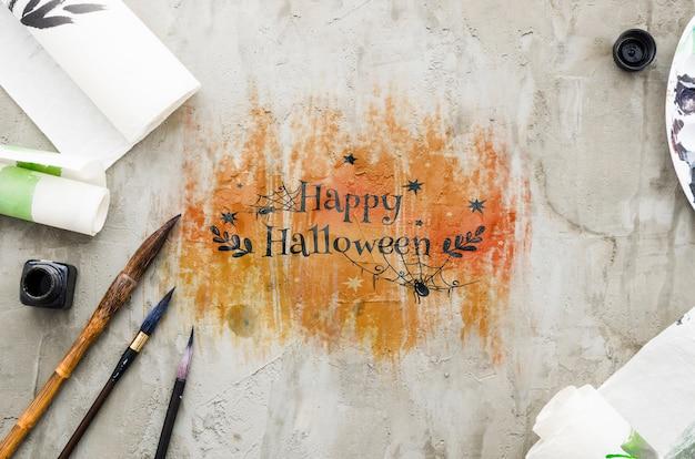Feliz halloween dibujar concepto acrílico