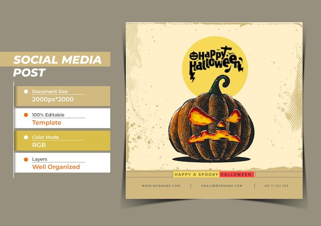 Feliz halloween festival concepto digital instagram y social me