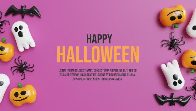 Feliz halloween con lindo fondo de calabaza y fantasma