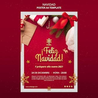 Feliz navidad flyer-sjabloon