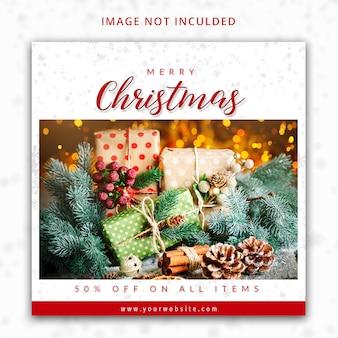 Feliz navidad instagram post template