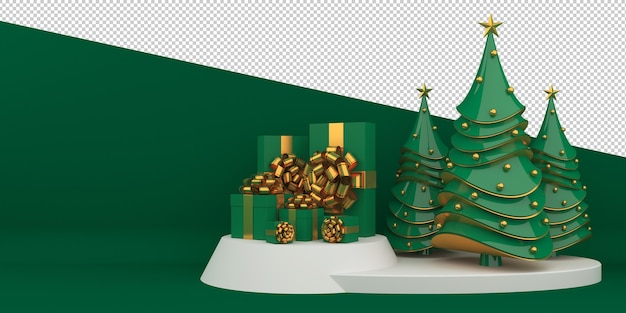 Feliz navidad y próspero año nuevo renderizado 3d