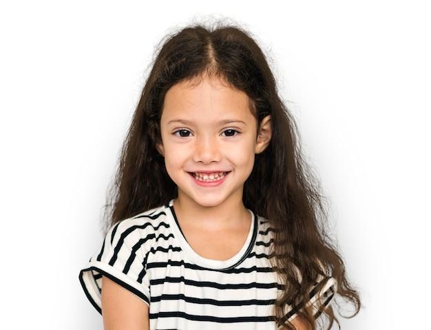 Feliz niña sonriente