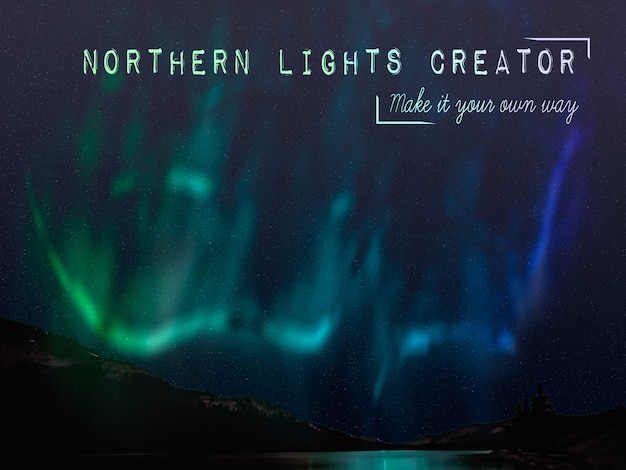Fenómeno de la naturaleza creadora de northern lights.